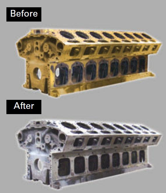 cleaning large engine blocks