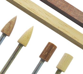 wooden bobs, cones and sticks